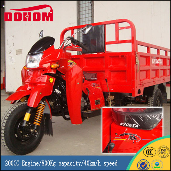 China Manufacture 200CC Engine Three Wheel Covered Motorcycle