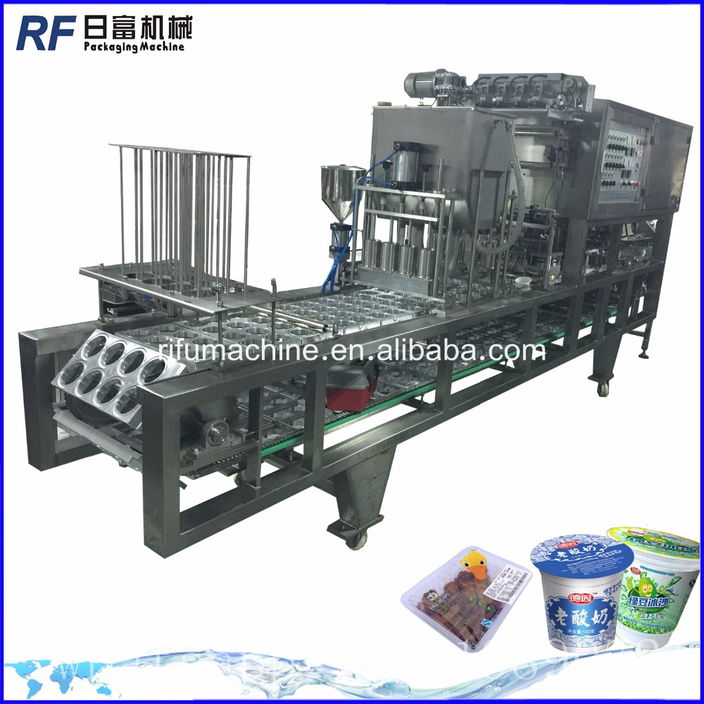 Yoghurt Cup Piston Filling and sealing Machine