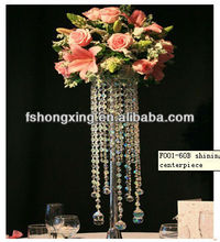 F001-60B crystal flower stand for wedding decor and party favor