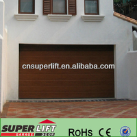 Wood Grain Setional Garage Door--Good Fame Factory with 20 Years History