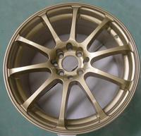 17x7/17x7.5 inch gold car wheel rim/ alloy wheel with 10 spokes