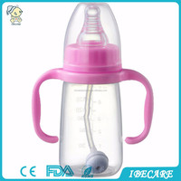 Hot selling food grade standard neck 60ml baby feeding bottle collapsible water bottles, plastic container with lock