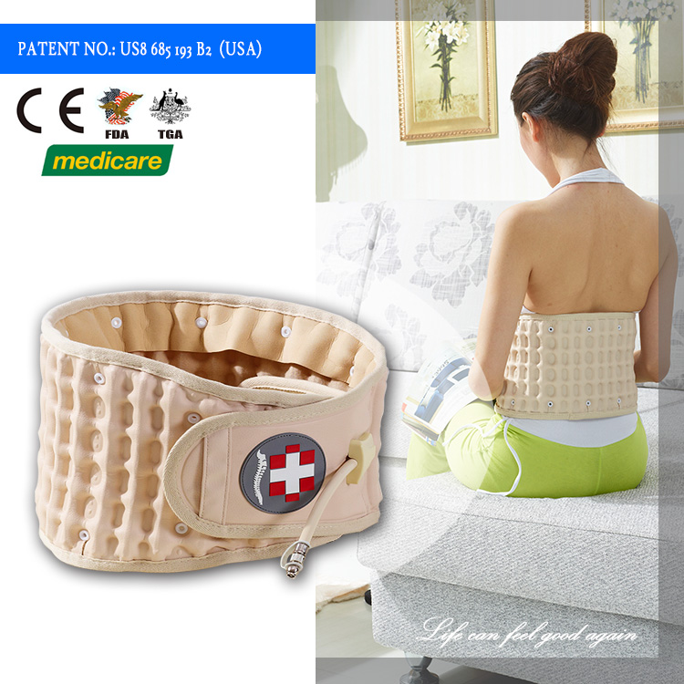 Medical Waist inflatable support massager decompression care back pain relief Spinal Air Lumbar physical therapy belt