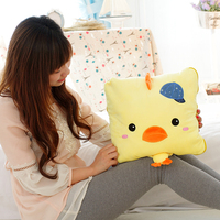 New Arrival Wholesale Stuffed Chicken&Frog Plush Blanket Toy