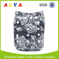 Alvababy Flowers Design Baby Reusable Cloth Diapers with Microfiber Insert