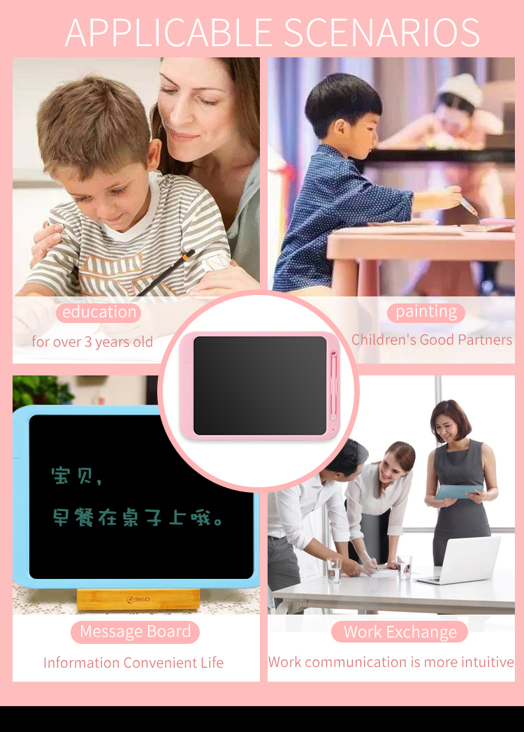 POLICRAL LCD Writing Tablet 12 Inch Digital Electronic Graphics Tablet Ewriter Mini Board Handwriting Pad Suitable for Kids