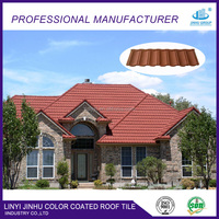Linyi kerala color stone coated metal roof tile