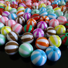 20mm Acrylic watermelon stripes chunky solid bubblegum beads wholesales.