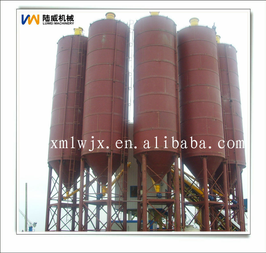 Cement plant with small capacity cement silos