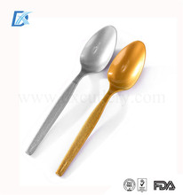 Hot Selling Gold Silver Disposable Plastic Dessert Spoon