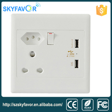 High Quality South africa wall socket outlets electric switch and socket modern usb wall power socket