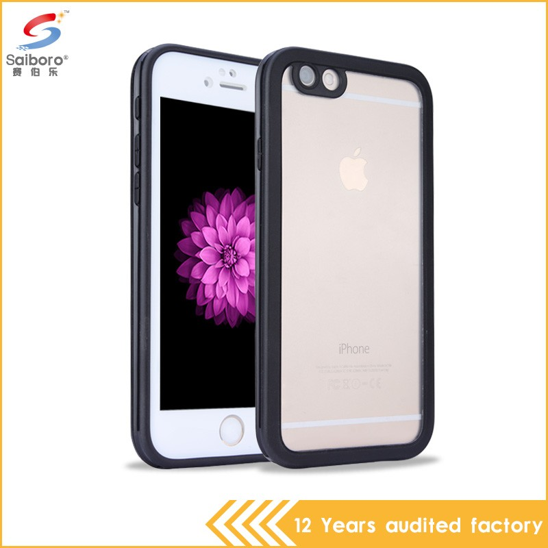 New arrival bulk cheap pc tpu transparent case for iphone 6/6s (black