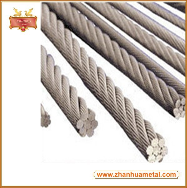 6x36WS+IWRC Wire Rope, 7x37 Steel Cable, 6x36WS+FC Steel Wire Rope