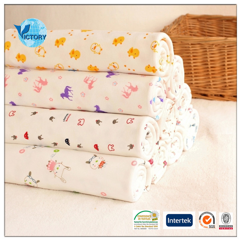 100 cotton printed interlock wholesale baby fabric for for Cheap baby fabric