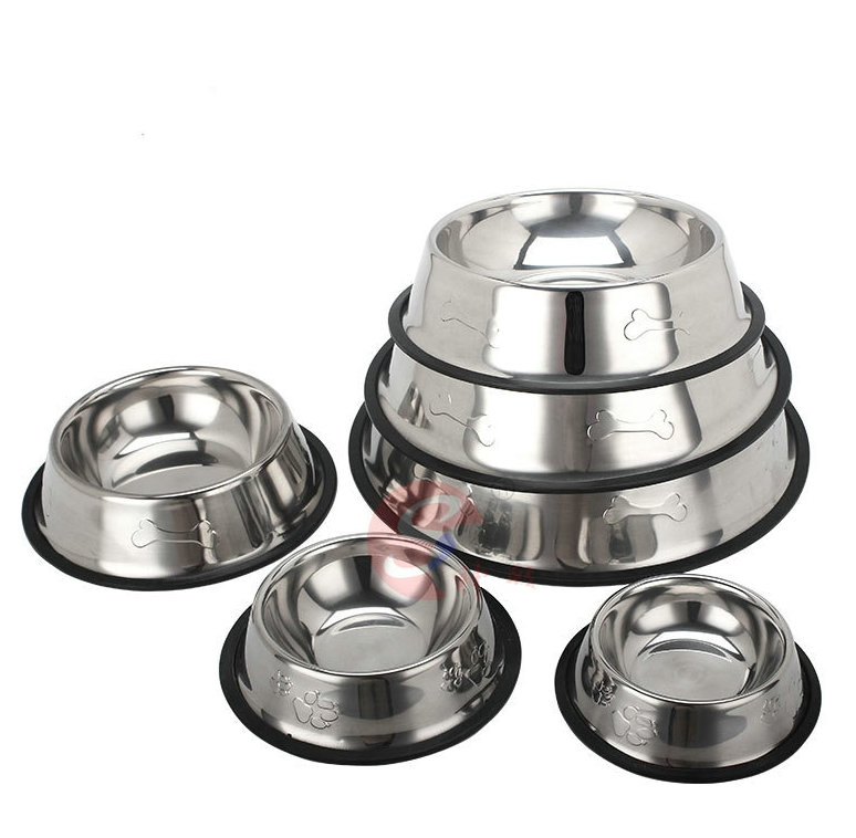 factory non-skip dog bowl steel pet bowl