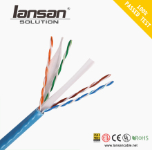 Customized cat6 utp cca 0.5mm pvc lan cable for media converter with certificate