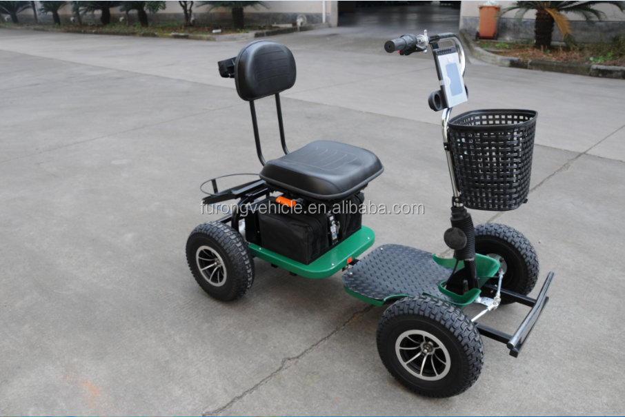 single seat 1000w electric four star golf cruiser golf cart with roof