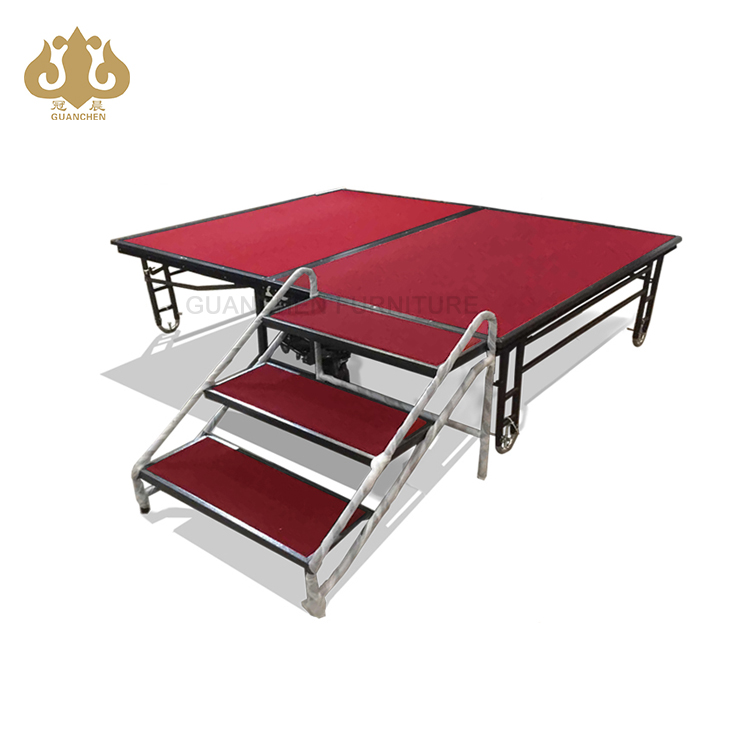 hotel wedding event portable mobile red/grey/blue folding banquet <strong>stage</strong>