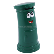 custom promotion plastic post box money box,OEM design plastic coin saving post money box