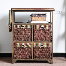 Folding Ironing Board Cabinet/Wooden Ironing Board With Wicker Cabinet