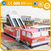 Fire Engine Inflatable slide, inflatable fire truck slide, inflatable slide with obstacle