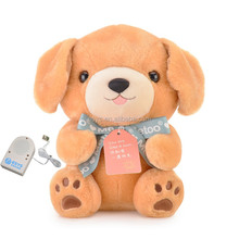 electronic plush voice recording dog repeat talking toy