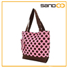 China fashion stylish lady tote canvas handbag with polka dots