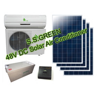18000Btu 100% 48V DC solar european air conditioner/solar powered air conditioner