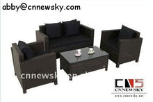 Outdoor Rattan Furniture Economic Knockdown Livingroom Sofa 4pcs Set