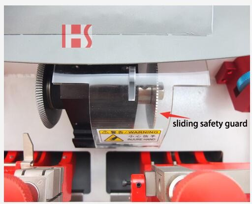 Hot sale key cutting machine double head 4 side clamp key clone machine for China JingJi key copy 81064