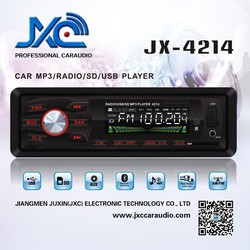 Wholesale support usb sd car radio mp3 player with hindi movies video songs download free and fm transmitter JX-4214