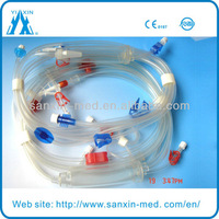 blood lines for hemodialysis with urine bag and fistula needle