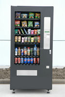 coin/note/IC card operated vending machine,automatic combo vending machine for snacks and drinks,CE and ETL certified