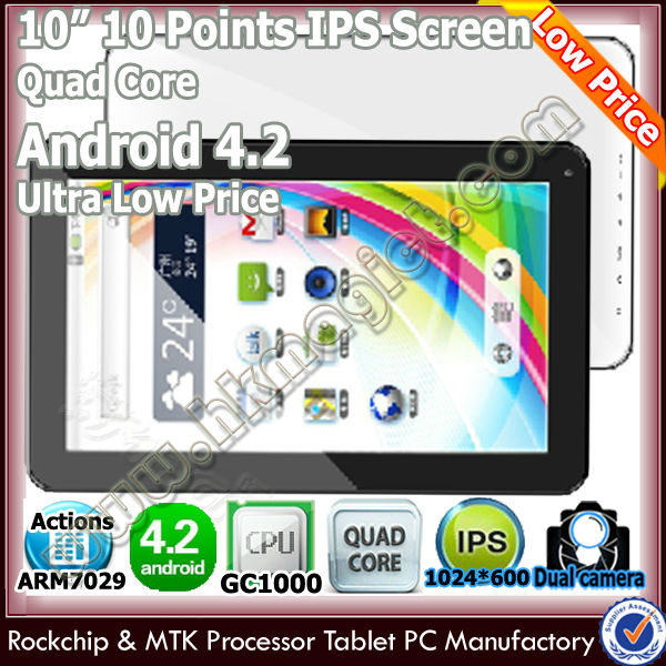 Top selling cheap android tablet 10 inch quad core 3g