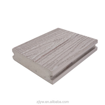 lyw length customized 3D embossed outdoor composite wpc decking flooring