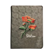 Wholesale Tablet PC Stand Holder for iPad Case Luxry Handmade Embroiled Rose PU leather Case for iPad 27.9inch