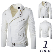 Winter <strong>Men's</strong> White German Waterproof Leather Motorcycle Jackets From China