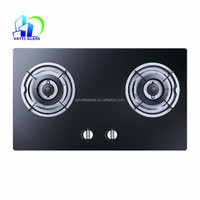 Tempered 2 Burners Glass Top Gas