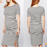 Wholesale korean style maternity clothing dress for pregnant