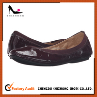 OEM high quality Lady casual Ballerina fold shoe top sale fold dance flat shoe for women