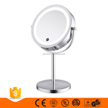 Hot vanity girl gift hollywood makeup mirror with light 7 inches silver led cosmetic desktop mirror
