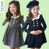 Wholesale Name Brand Autumn Academy Style Girls Party Dresses Of Pictures