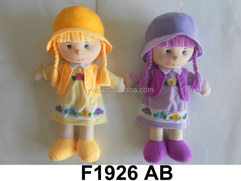Bang for the buck 22'' Delicate Rag dolls item F1926 AB / wholesale colourful plush rag dolls