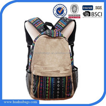 Top sale print backpack canvas leisure