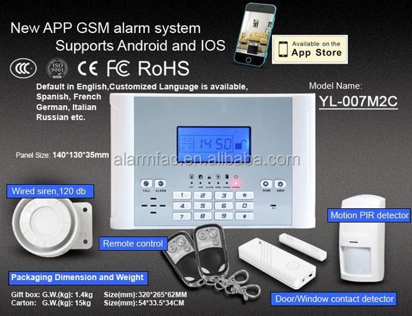 Easy Operating Wireless Alarm System With