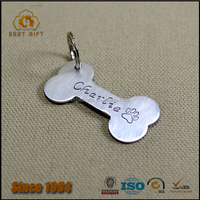2016 Popular promotional gifts custom stainless steel pet id tags