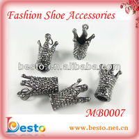MB0007 Unique vintage small metal crown shaped gun buckle for handbag