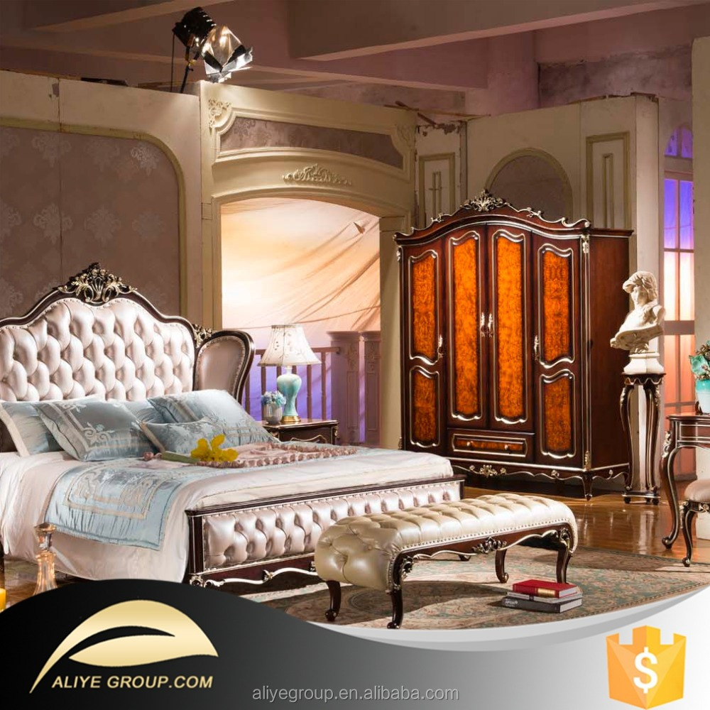 Ab22- Royal Furniture Antique White Bedroom Sets