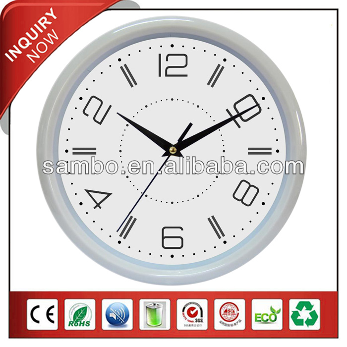 Promotional Round Backward Running Clock