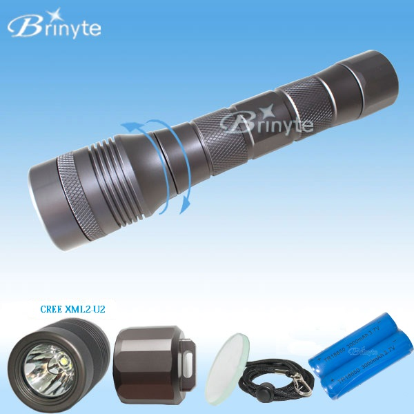 Scuba Rechargeable CREE LED Powerful <strong>Diving</strong> <strong>Torch</strong> Light